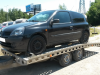 Odvoz vozidla Renault Clio k ekologické likvidaci.